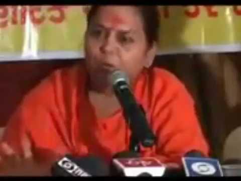 """""""मोदी विकाश पुरुष नहीं, विनाश पुरुष है"""" - Uma Bharti, BJP Minister"""