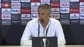 Rueda de prensa de Quique Setién tras el partido contra el Olympiacos FC