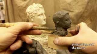 Первые простейшие упражнения - Обучение скульптуре. Портрет, 1 серия
