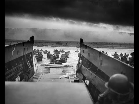 Original D-Day footage US Troops storming the Beaches of Normandy