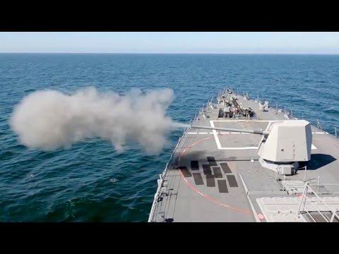 5-inch 62-caliber Mk 45 Naval Gun Live Fire – Arleigh Burke-class Destroyer