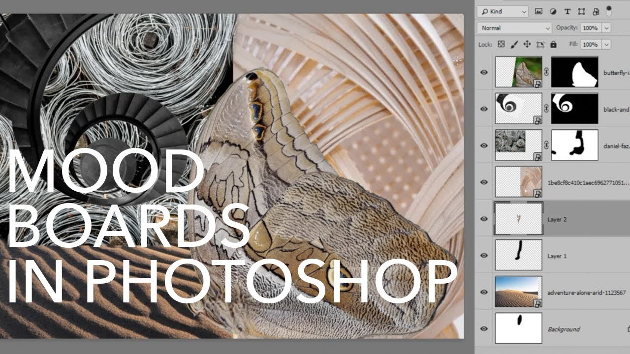 How To Create A Mood Board In Photoshop Youtube
