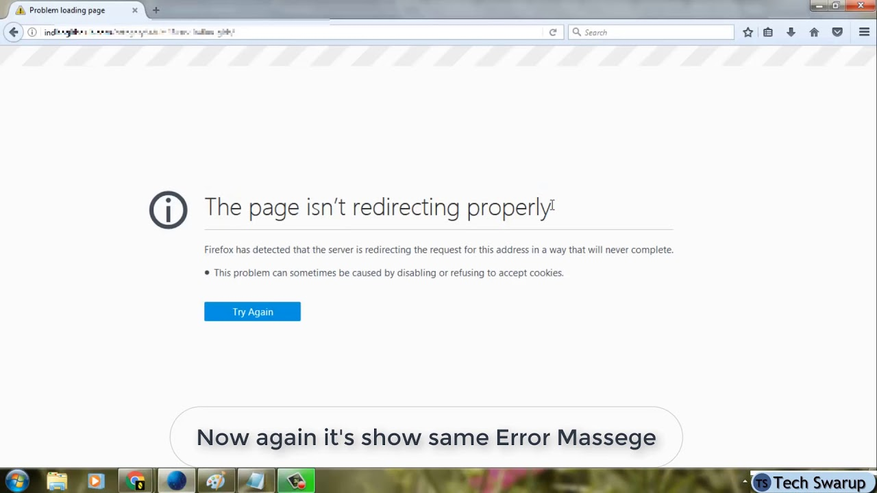 Fix ERR TOO MANY REDIRECTS This page isn\u0027t working in google chrome