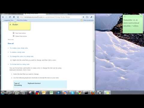 Windows 7 How To Use Sticky Notes