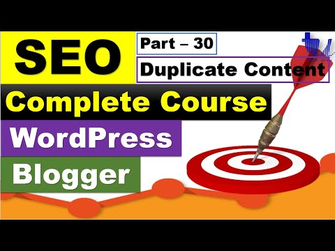 Complete SEO Course for WordPress & Blogger | Part 30 – Duplicate Content-Causes and Fix[Urdu/Hindi]