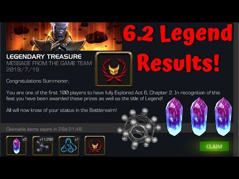 Act 6.2 Legends Run Results + Crystal Opening! - Marvel Contest of Champions