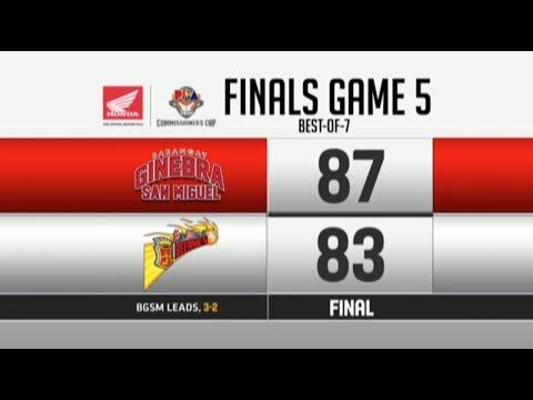 Barangay Ginebra vs San Miguel Beermen Game 5 Finals | PBA Commissioner's Cup