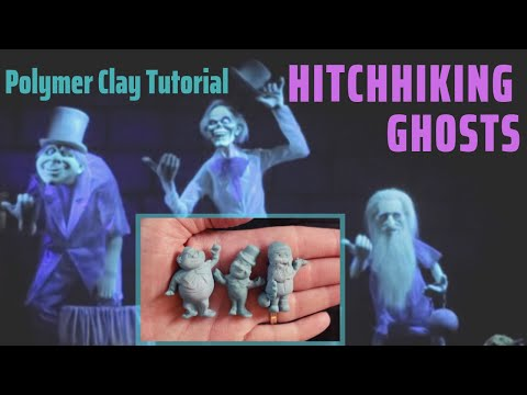 Hitchhiking Ghosts | Polymer Clay Halloween Tutorial thumbnail