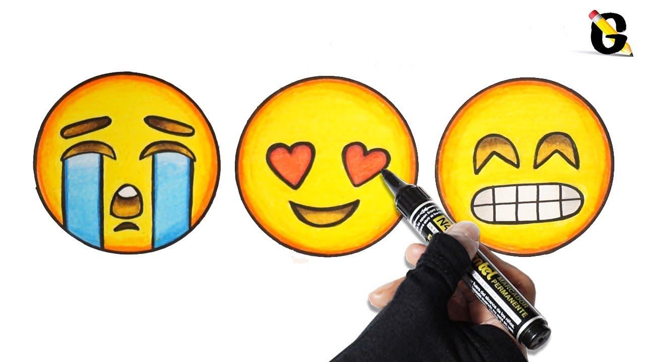 Cara Menggambar Dan Mewarnai Emoji
