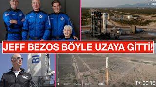 JEFF BEZOS UZAYA BÖYLE GİTTİ! Amazon'un sahibi mil