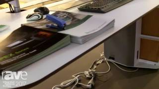 ISE 2017: E-MAX Exhibits Sit-Stand Console Desk