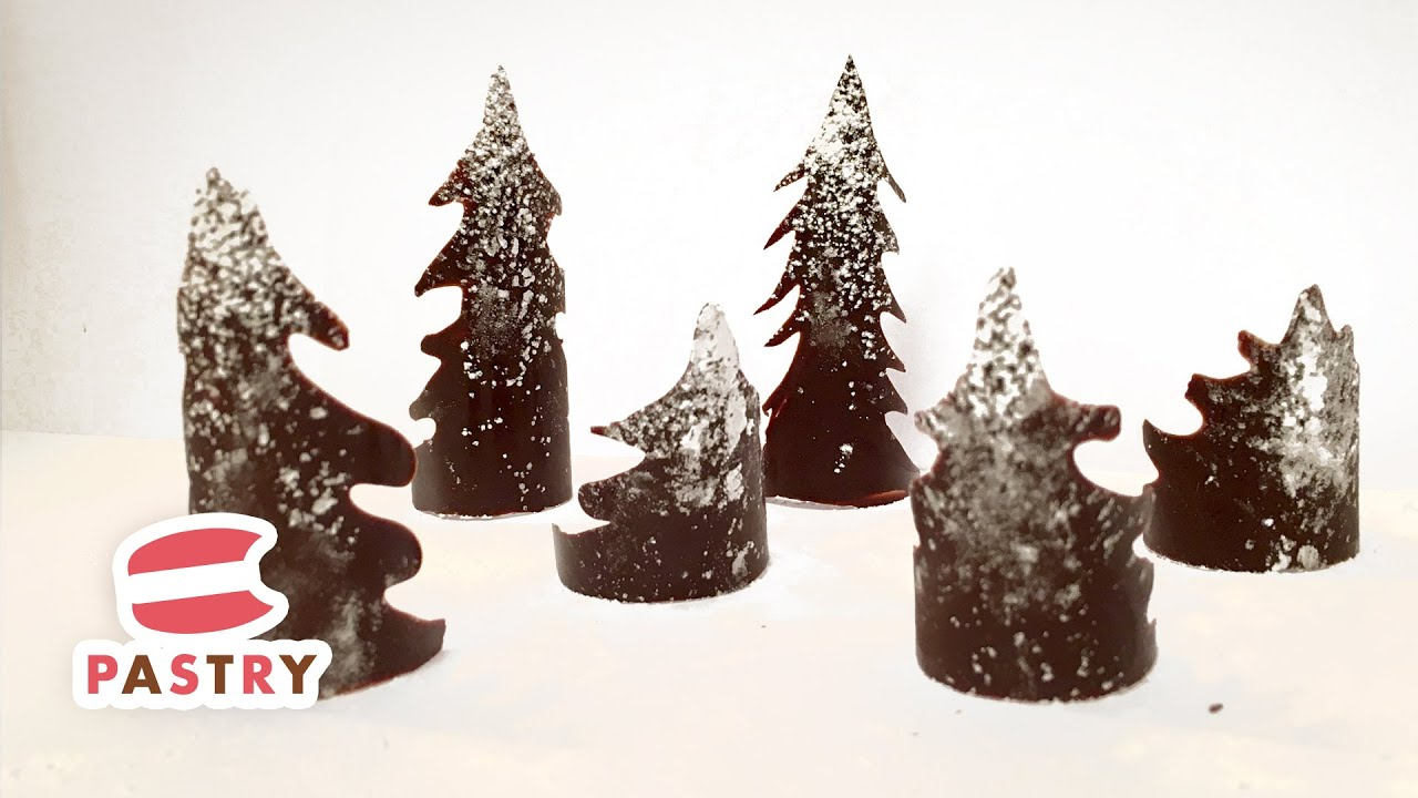 making chocolate christmas tree decoration chocolate