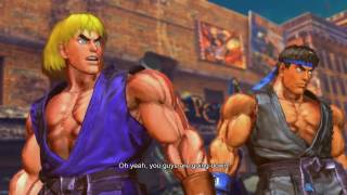 Street Fighter x Tekken Ryu/Ken vs Jin/Kazuya