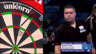Lewis v Smith | Quarter Final | Gibraltar Darts Trophy 2014