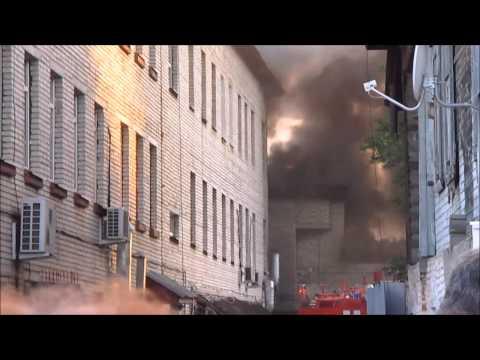 Пожар в зданиях полиции, г. Меленки