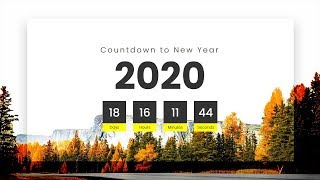 Countdown to New Year 2020 Coming Soon Page Using Html CSS & Javascript