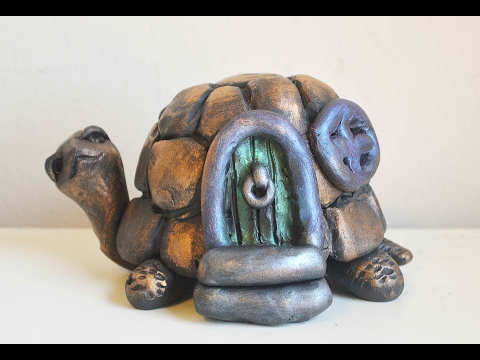 DIY Turtle Fairy House In Polymer Clay Tutorial