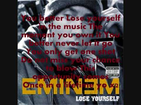 Eminem - Lose Yourself - Dirty WITH LYRICS