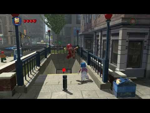 LEGO Marvel Super Heroes - Financial Area 100% (All Collectibles - Gold Bricks/Tokens/Missions)