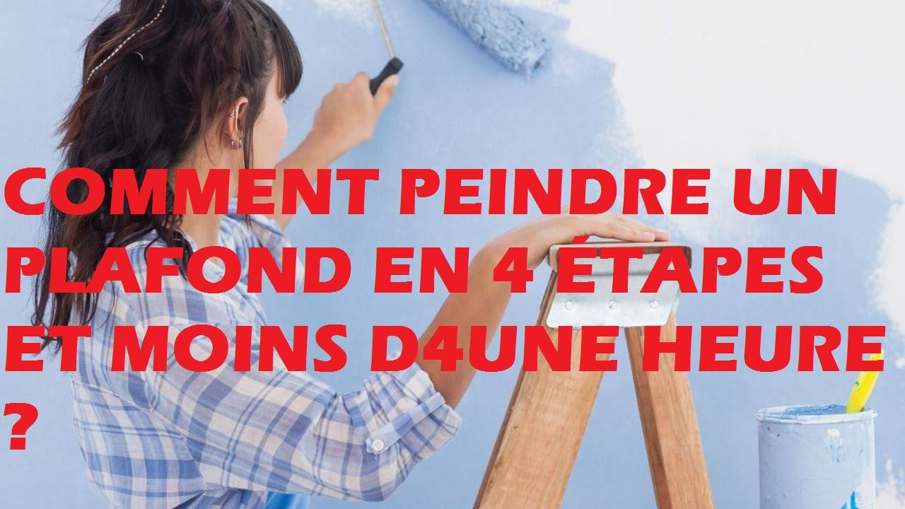 comment peindre un plafond en 4 tapes et moins d 39 une heure youtube. Black Bedroom Furniture Sets. Home Design Ideas