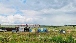 Обманутые дольщики ЖК «Яшьлек» поставили палаточный городок в Татарстане / LIVE 07.07.19