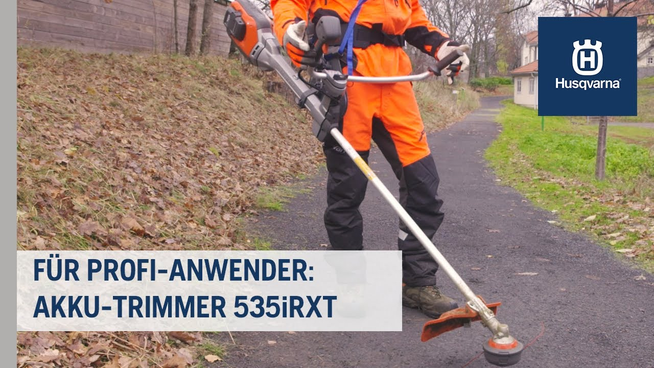 Produktivität für echte Profis: Akku-Trimmer 535iRXT | Husqvarna Grünflächen