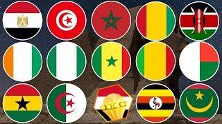 CAN 2019 : Liste des Pays Qualifiés et Nombre de Qualifications (Partie-1)