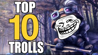 TOP 10 | TROLLS EN LEAGUE OF LEGENDS | Coolife