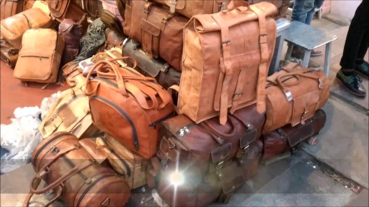 fe6b2815f051 A Day I Went To Jaipur leather Bag Market VLOG - YouTube