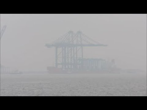 The Zhen Hua 23 sails from Shanghai on a 79 day voyage to Felixstowe with two state of the art ship