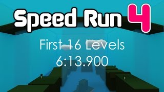 ROBLOX Speed Run 4 First 16 Levels in 6:13.900 [Former WR]