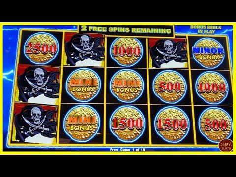 NEW GAME DOLLAR STORM - BIG WIN 4 COIN TRIGGER - CARIBBEAN GOLD SLOT MACHINE! - 동영상