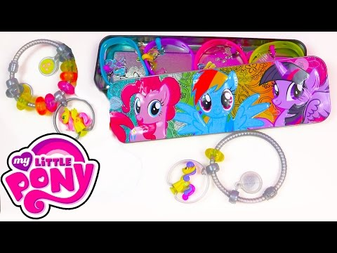my-little-pony-case-tin-charmlings-and-bracelet-mlp-squishy-pops-jewelry-toy-holder-unboxing
