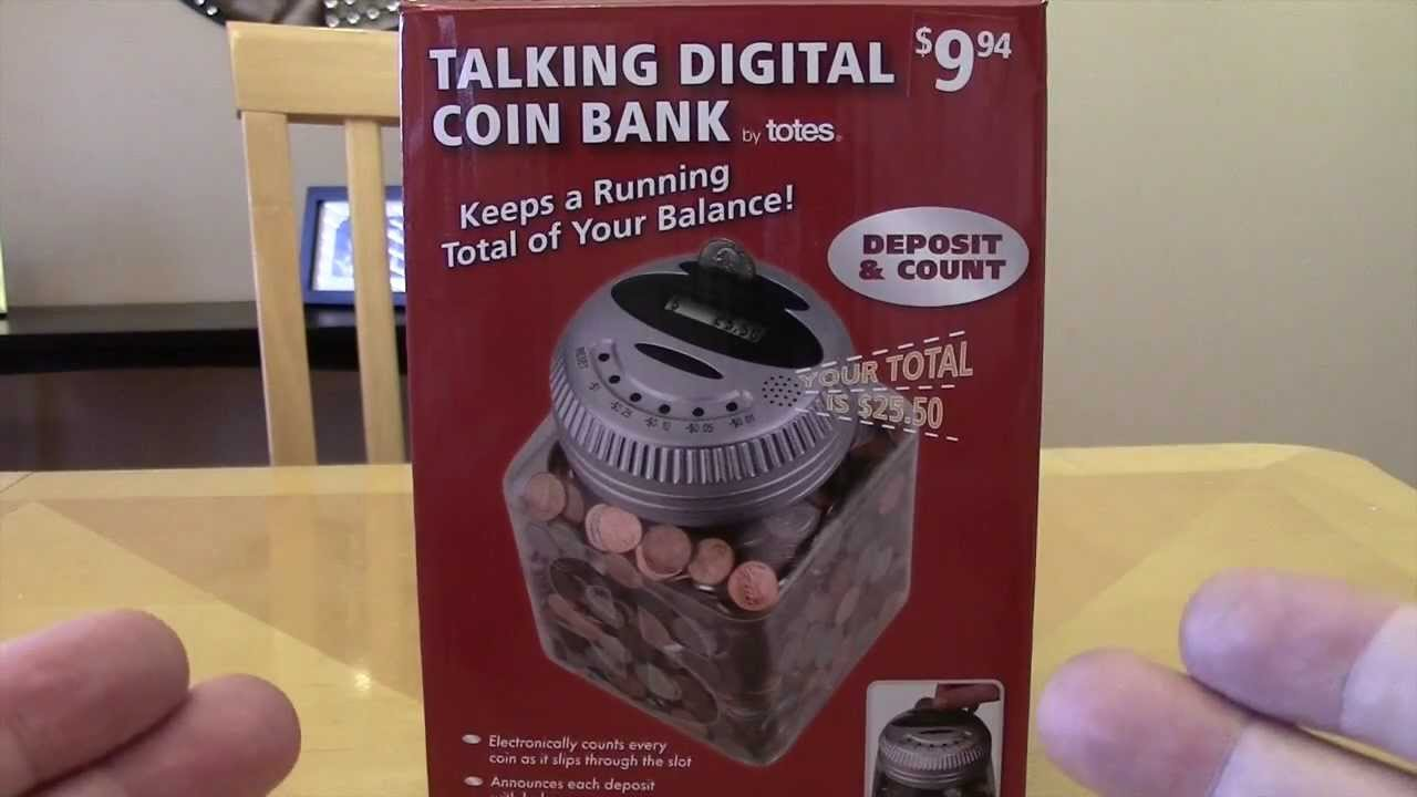 Talking Digital Coin Counter Bank Electronic Piggy By Totes You
