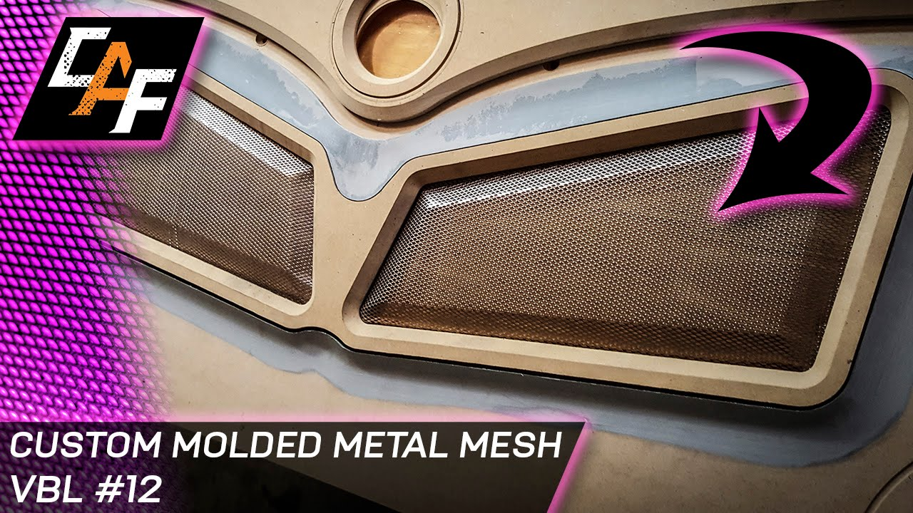 Molded Metal Mesh For Custom Speaker Grills