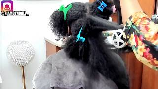 Silk Press on Curly hair! Curl reversion!