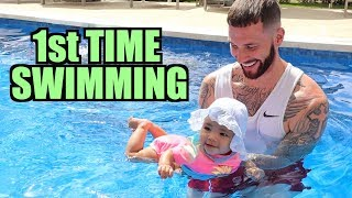 Kirah's First Time Swimming!