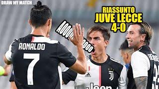 Riassunto Juventus-lecce 4-0 | Draw My Match |
