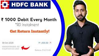 HDFC Bank RD Instalment Debited Refund Processs | Close RD Deposit  Online