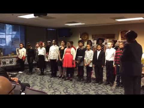 Watkins Elementary 5th Grade Choir Performs at DEA's 2015 African American History Month Program