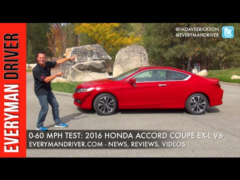 how fast 0 60 mph 2016 honda accord coupe on everyman driver youtube. Black Bedroom Furniture Sets. Home Design Ideas
