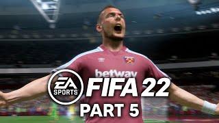 FIFA 22 West Ham CAREER MODE Part 5 - 8 GOAL THRILLER (PS5 4K 60fps)