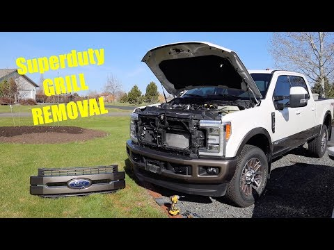 2019 Superduty Grill Removal (INC. FRONT CAMERA)