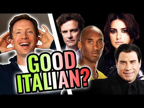 Polyglot Reacts: 8 Celebs Speaking Italian