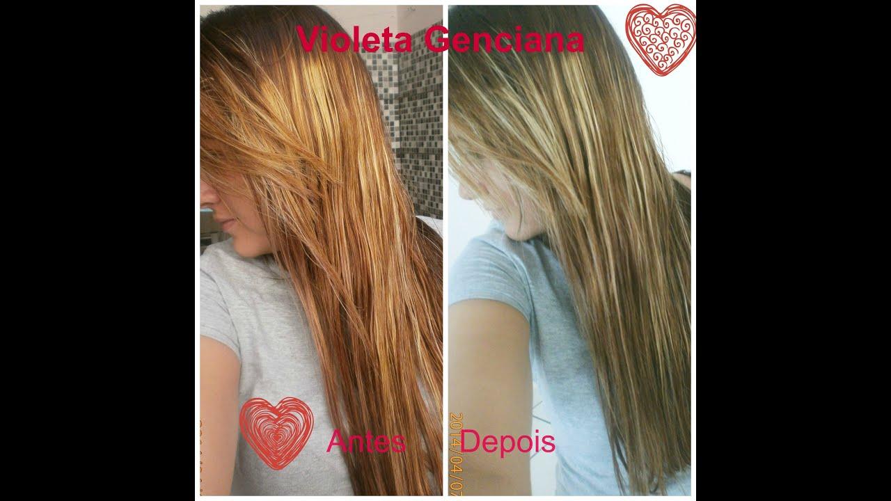 Conhecido Como Desamarelar o cabelo com Violeta Genciana e água - YouTube MN96