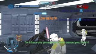 Stew Wars Battlefront Elite Squadron   Death Star   Jedi Pancake face vs Darth Vader