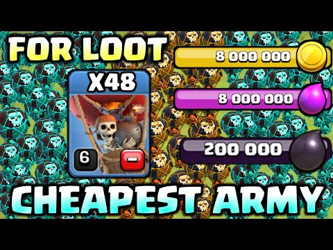 Cheapest Loot Strategy For Th9 & Th10 In Clash Of Clans 2018