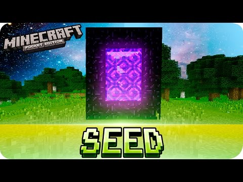 Minecraft PE Seeds - EASIEST NETHER PORTAL SEED - 0.14.0 / 0.13 / 0.12 MCPE