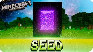 Minecraft PE Seeds - EASIEST NETHER PORTAL SEED - MCPE 1.1 - 0.12.0