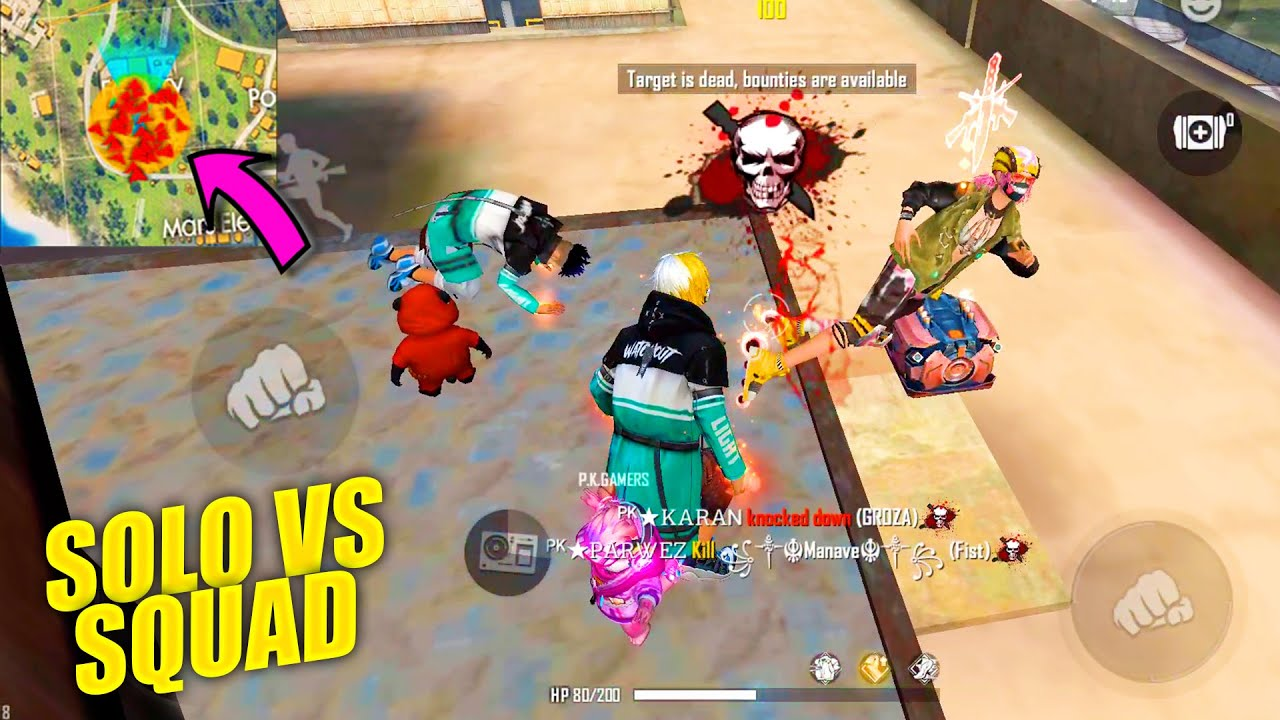 Solo vs Squad Situation Amazing Headshot Hacker Gameplay   Garena Free Fire King Of Factory Fight